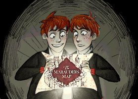 Weasley twins by PandorasBox341