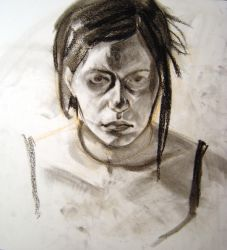self portrait drawing 4 by hinstarsion