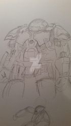 Quick hulk buster sketch by sketcherCa