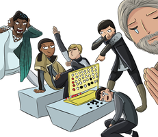 Detroit Become Human Draw the Squad Connect Four by TheGlacierAlliance