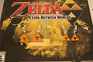 The Legend of Zelda Polymer Clay Triforce Earrings by chikki587