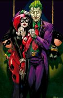 The Joker and Harley Quinn by olivernome