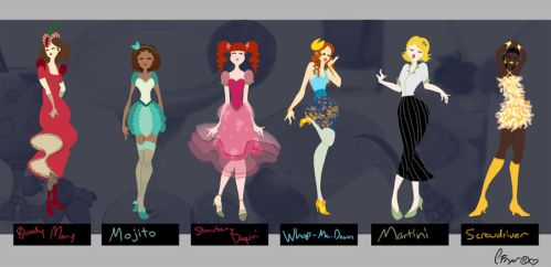 Cocktail Fashions by Julibee-Darling