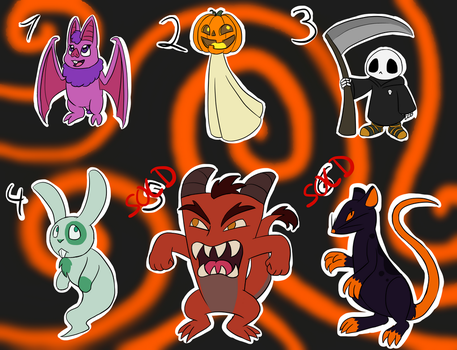 Halloween Adoptables Batch 1 - OPEN by MetaLatias5