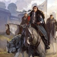 Robb Stark-Leaving Winterfell by DiegoGisbertLlorens