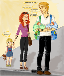 Herondale family by Linaia