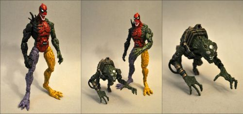 Symbiote Deadpool + Lasher by Mace-X