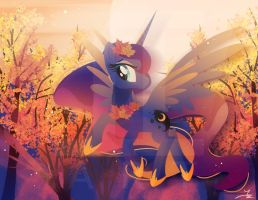 Autumn Princess Luna by II-Art