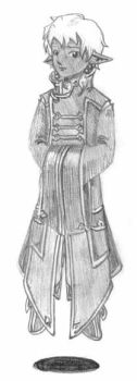 Concept sketch of Cole's robe by Aeonna