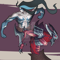 Kayn and Rhaast by dragu-magu