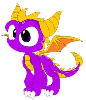 Spyro Redesign by TravistheDragon00