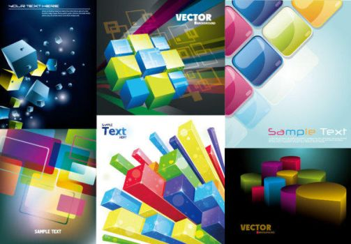 Colorful Cube Vector Background by vectorbackgrounds