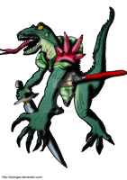 Lizalfos Ocarina Kingdom Hearts JR by DrPingas
