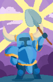 Shovel Knight by meowing-ghost