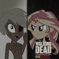 The Walking Dead. Poster 6 season. Equestria girls by ngrycritic