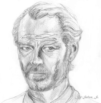 Jorah Mormont (Game of Thrones) pencil portrait by selva-s