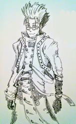 Vash doodle (inktober24.2018) by lallibear