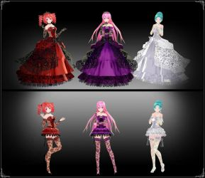 Tda Darkness, Passion and Light models - DOWNLOAD by YamiSweet