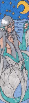 Bookmark 1 - mermaid by Adne