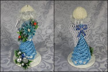 Small angel with quilling (blue) by Ella-handmade