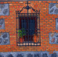Window at Toledo by ChemaIllustration