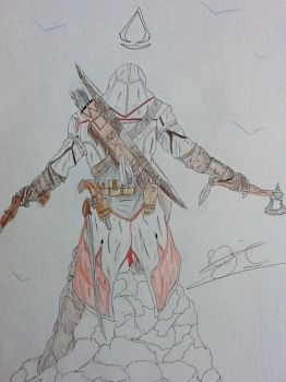 conner kenway(colourd) by Ojanassassin