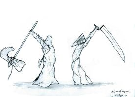 pyramid head vs executioner by bloodypenalper