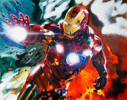 Ironman painting by dx