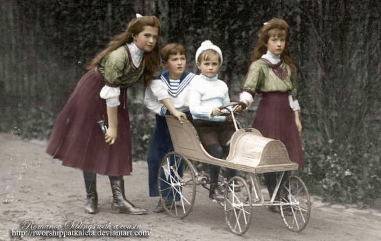 Romanovs with a cousin by Livadialilacs