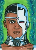 Sketchcard Cyborg by RichBernatovech