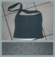 Grey cable bag by KnitLizzy