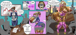 Office Ganguro (continuation on patreon) by SpaceFur