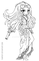 Nico Robin Lineart ::Open Lineart:: by YamPuff