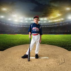 Field of Dreams: Baseball by LadyCarolineArtist