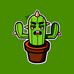 Cactus Scowl by CrownCreative
