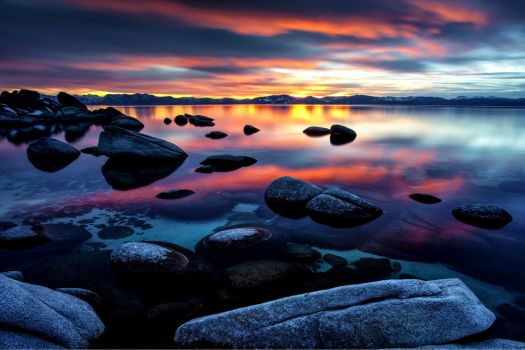 Tahoe East Shore Late December Color by sellsworth