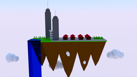 Floating city by Jaycookscookies
