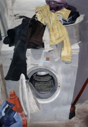 The endless laundry, Acrylic Painting by Ruthygi