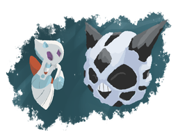 Pokeddex day 15: Froslass/Glalie by Dream--scape