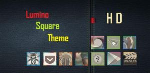 Lumino Square HD Nova Apex Go Theme by bagarwa