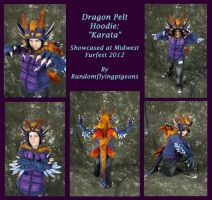 Karata Dragon Pelt Hoodie by randomflyingpigeons