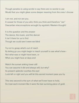 Untitled Taoist Poem by andythefragile