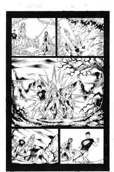 Teen Titans 84 pg 05 Inks by Mariah-Benes