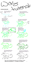 tutorial - how to draw a wolf by Salokorai