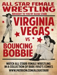 Wrestling Poster by FullBostonCrab