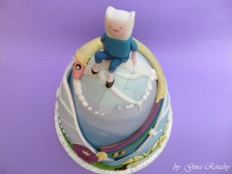 Adventure Time top view by ginas-cakes