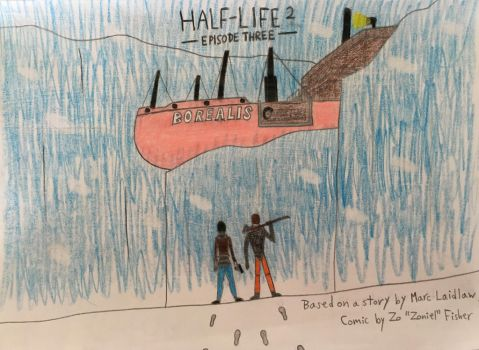 Half-Life 2: Episode Three fan-made comic cover by ShotgunDude