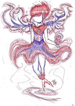 Red and Blue Flames (Unfinished) by polkadotlover123