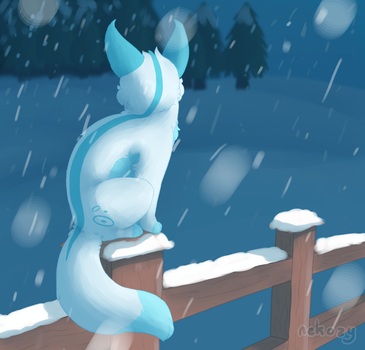 Sitting in the Snow by nekozy