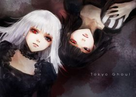 Tokyo Ghoul Twins by namusw